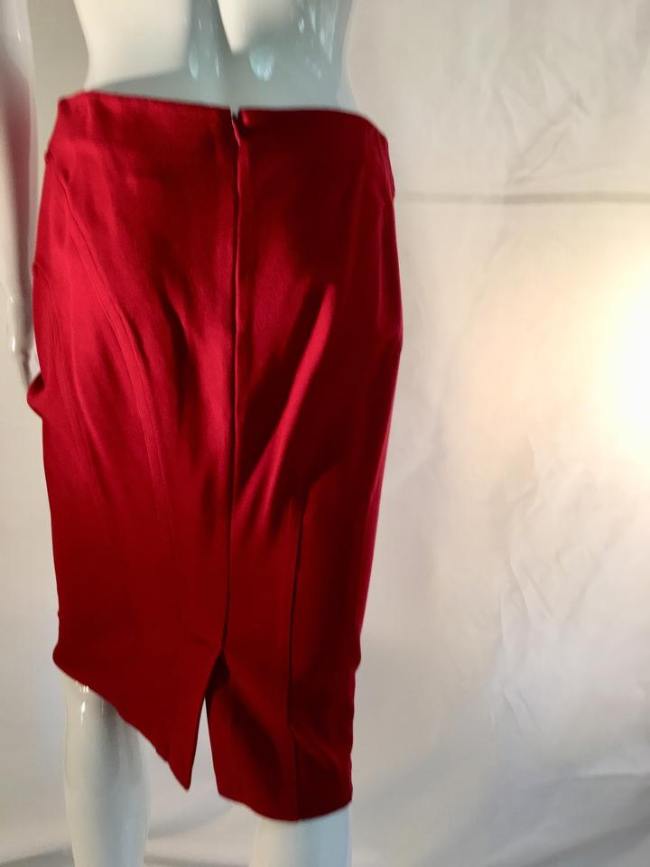 dcebfb5d4c7 Shape FX Red Slimming Stretchy Pencil Skirt Size 8 (M, 29, 30) - Tradesy