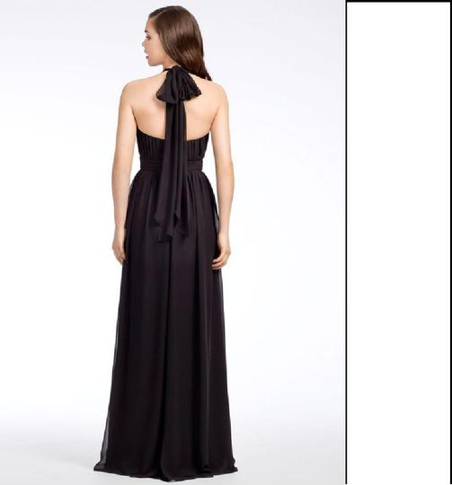Hayley Paige Black Chiffon Collections 5670 Traditional Bridesmaid/Mob Dress Size 8 (M) Image 1