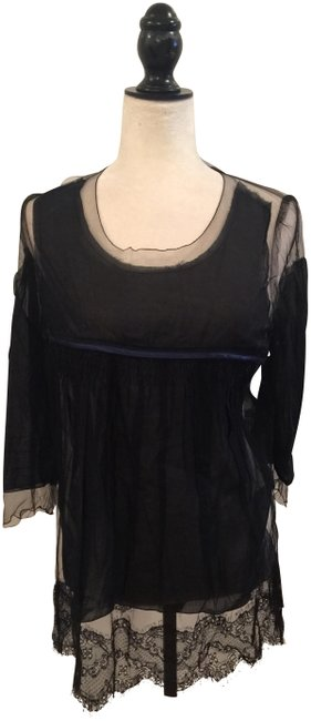 Preload https://img-static.tradesy.com/item/23670796/undercover-black-tunic-blouse-size-2-xs-0-1-650-650.jpg