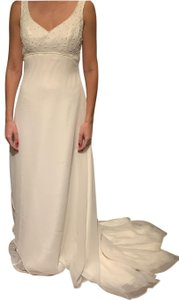 Alfred Angelo Ivory New with Tags A Line Gown Formal Wedding Dress Size 4 (S)