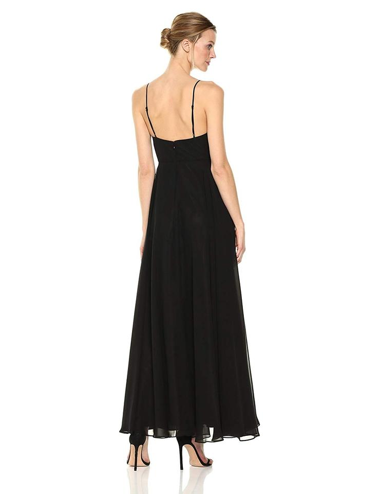 A Strap New Chiffon Miller line Spaghetti Formal Nicole Gown Black Dress Sweetheart Yx05w5