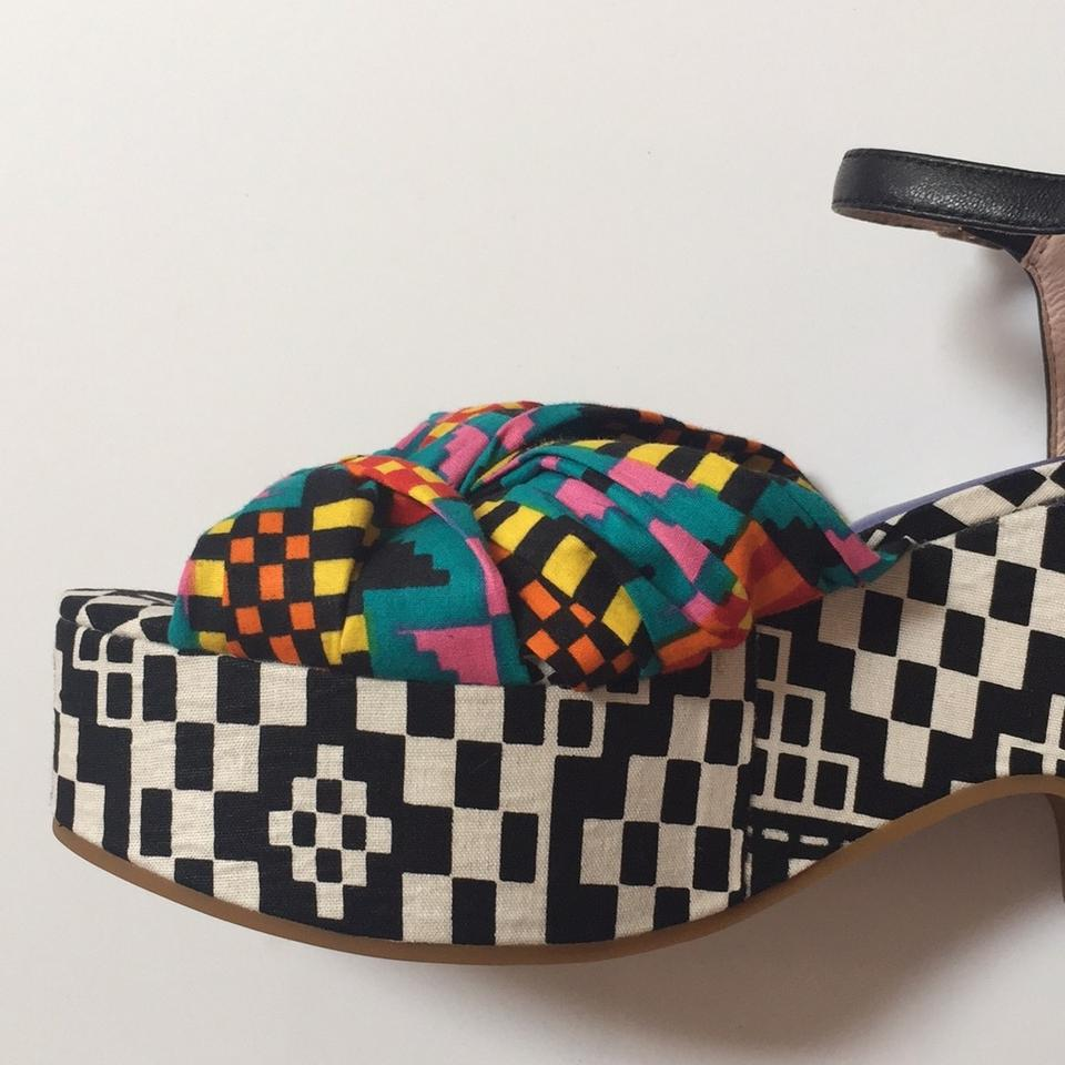 cc94cdd381 Charlotte Stone Multi Colored Wedge Sandal Platforms Size US 7 ...