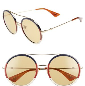 b72b3af8e9c30 Added to Shopping Bag. Gucci GUCCI 56mm Round Sunglasses GG061S