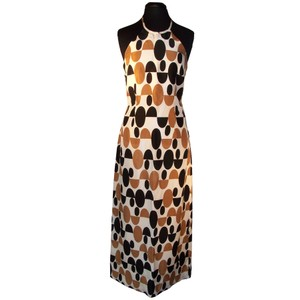 Tan/White/Navy Maxi Dress by Rouge Vintage Fred Segal Halter