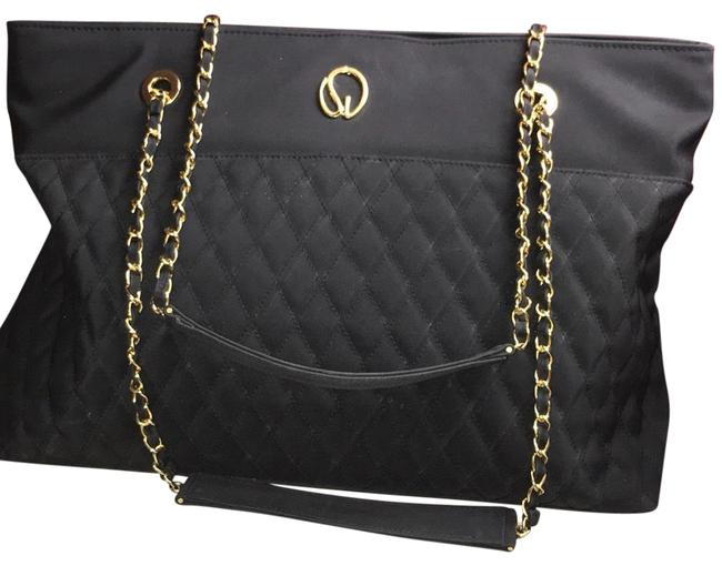 Item - Quilted Large Logo Black Nylon Tote