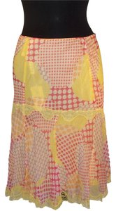 Blumarine Skirt Yellow and pink