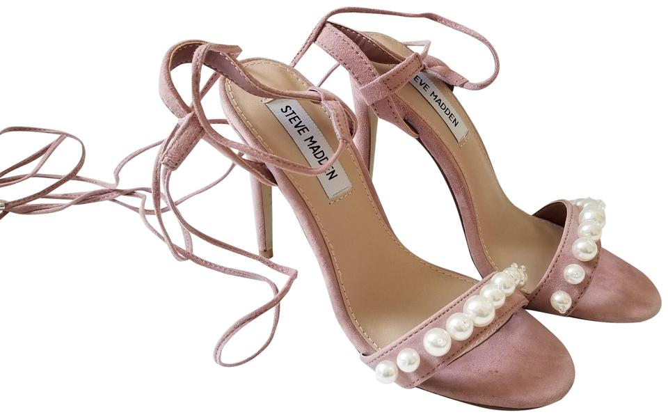 ce09393f8a5 Steve Madden Pink New Suede Pearl Wraparound High Heels Elegant Sandals  Size US 6 Regular (M, B) 45% off retail