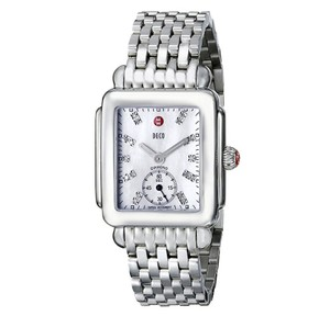 Michele NEW Deco 16 Mid MOP Diamond Dial Steel MWW06V000002 Ladies Watch