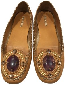 Prada Dark Yellow/Purple Gem Flats