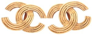 Chanel Chanel very simple CC logo clips earrings