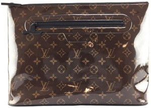 15883967bab Louis Vuitton Lv Pochette Cosmo Runway Collector MONOGRAM Glaze Ultra RARE  Limited Edition Fall Winter