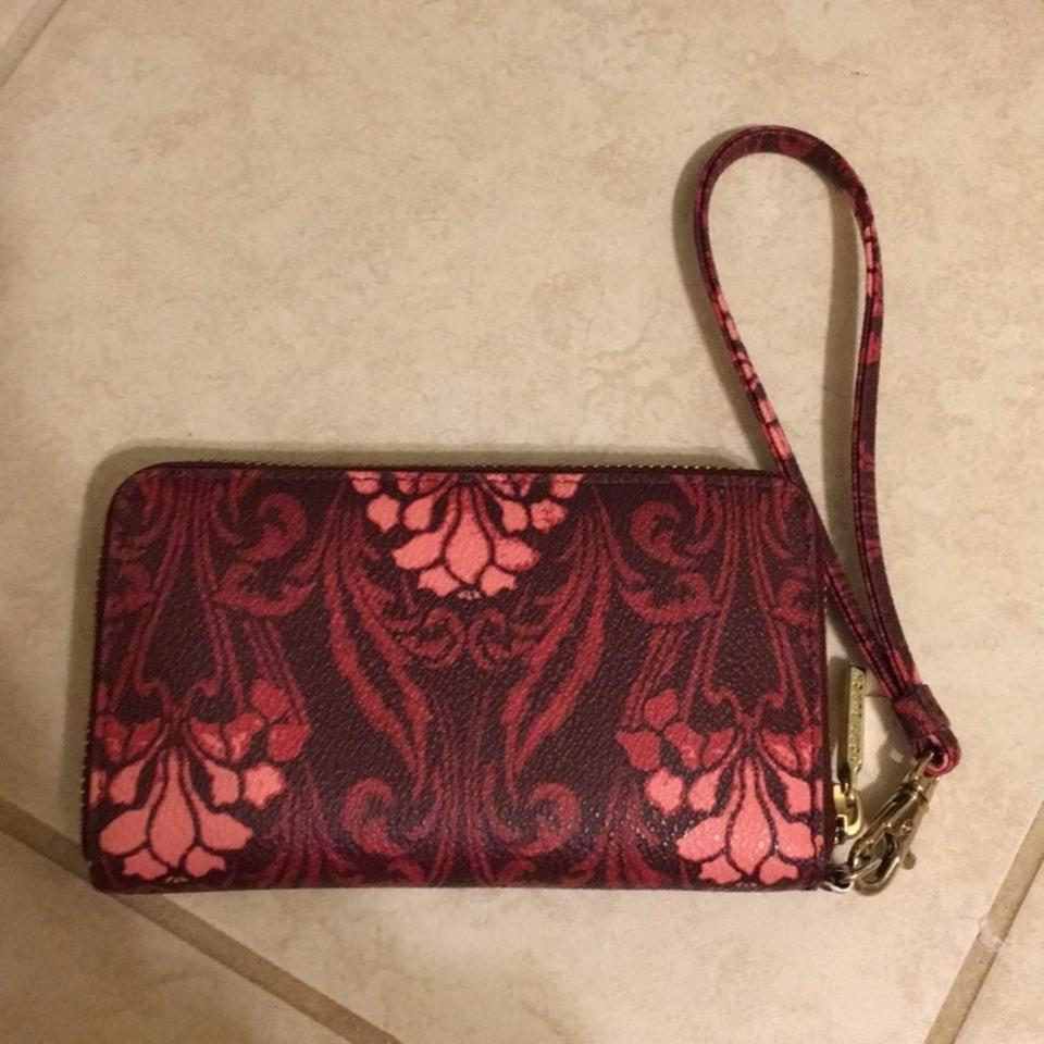 Pink Robinson Holder Tory Wristlet Phone Wristlet Burch Red SX55wO