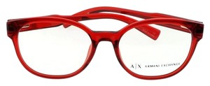 A|X Armani Exchange AX3040F-8209-53 Women's Red Frame Clear Lens Eyeglasses