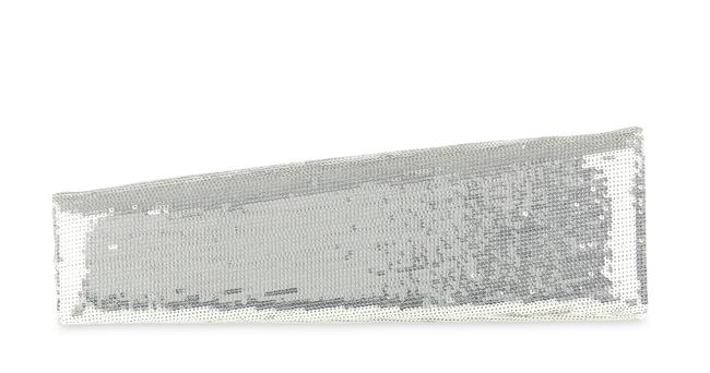 Item - Silver Satin Newspaper Sequin Clutch