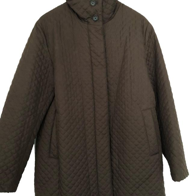 Item - Brown Quilted Jacket Size 12 (L)