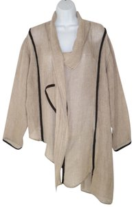 Bodil Linen Gauze Asymmetric Layered Jacket
