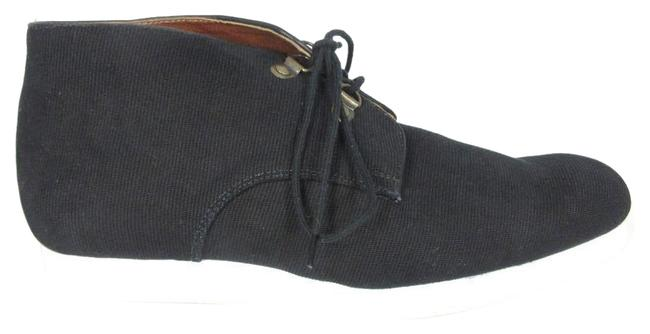 Item - Black Up Oxford Sneaker Fabric Leather Boots/Booties Size US 9.5 Regular (M, B)