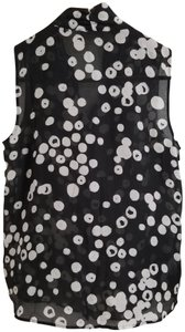 Ann Taylor LOFT Sleeveless Top Black and White