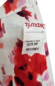 Dalia Artsty Pleated Skirt Red,Pink and White Floral