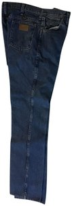 Wrangler Mens Vintage Long Boyfriend Cut Jeans-Medium Wash