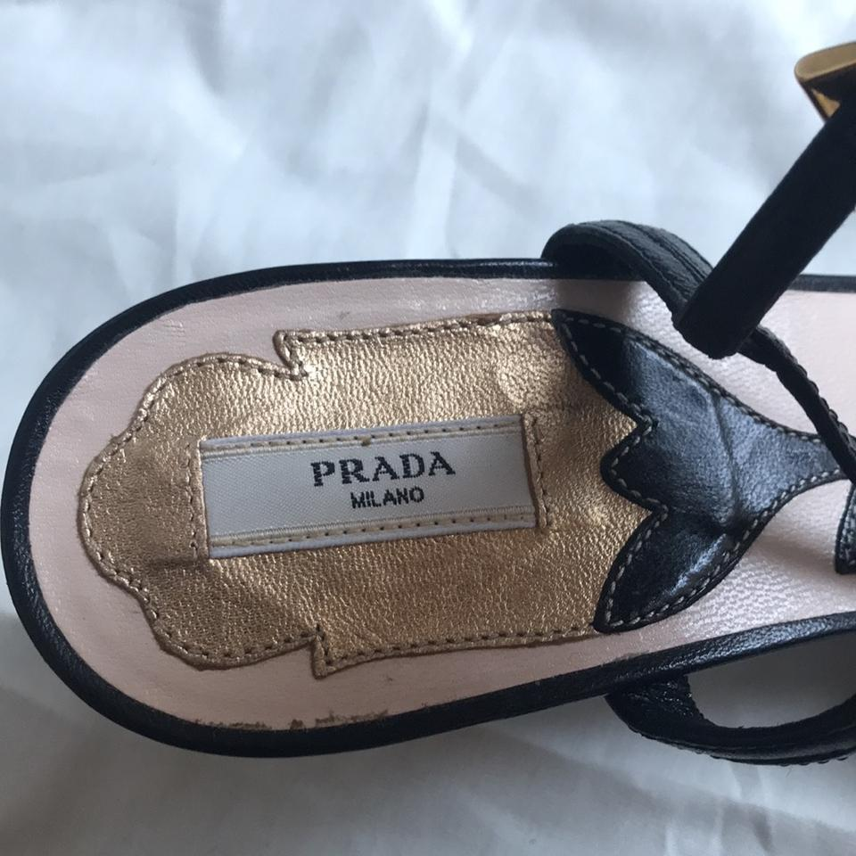 Shoes Formal Prada Sandal Strappy Black Kitten Heel xTX8YBqF