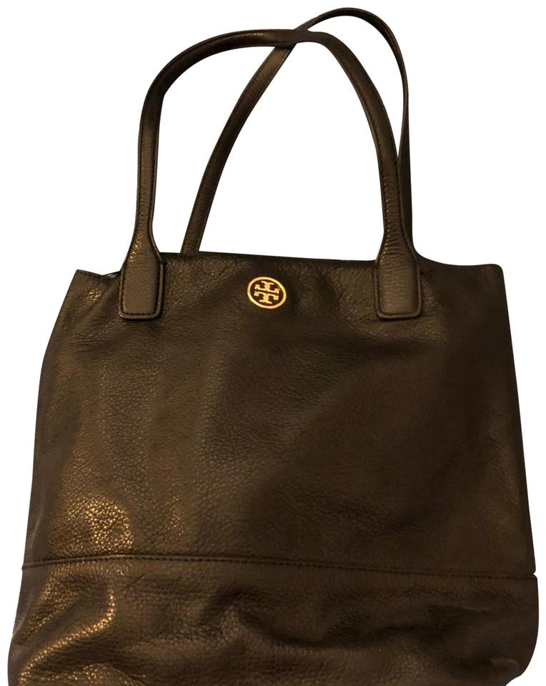 5a601074414 Tory Burch Black Leather Tote - Tradesy