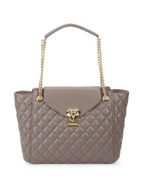 Item - Purses/Designer Purses Grey Quilted Faux Leather Satchel