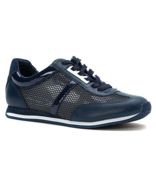 Item - Navy 'maggie' Perforated Fashion Sneakers Size US 9.5 Regular (M, B)
