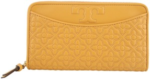 Tory Burch Tory Burch Solarium Yellow Bryant Zip Continental Leather Wallet