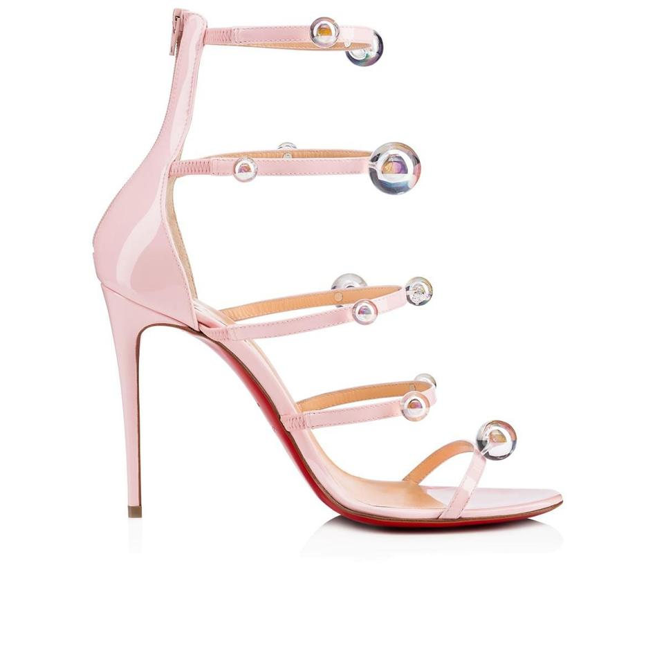 2a29bb34f66 Christian Louboutin Pink Atonana 100 Ball Studded Strappy Sandals Size EU  40 (Approx. US 10) Regular (M, B) 12% off retail