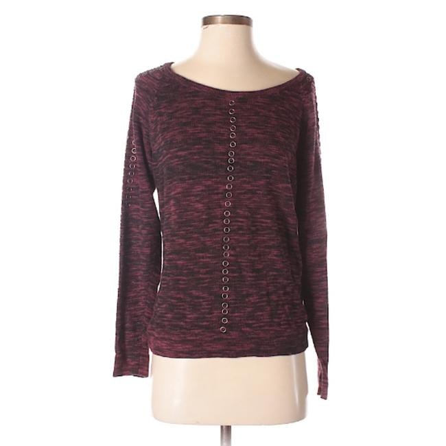 Item - Burgundy Solid Sleeves with Grommets Blouse Size 8 (M)