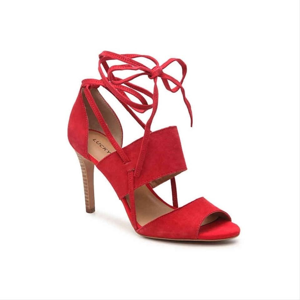 Lucky Brand In Red Salana In Brand Chili Pepper Sandals 783a1b