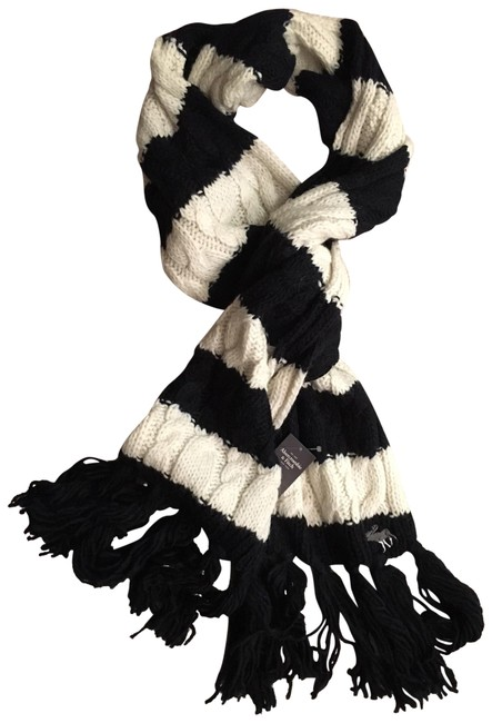 Item - Black and White/Beige Winter Scarf/Wrap