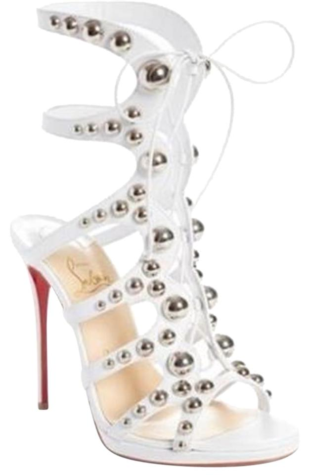 finest selection 0e4b5 f6cbf Christian Louboutin Latte (White) Amazoubille Studded Platform Gladiator  Sandals Size EU 39 (Approx. US 9) Regular (M, B) 32% off retail