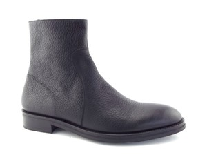 To Boot New York Black Pebble Leather Men's Ankle Shoes