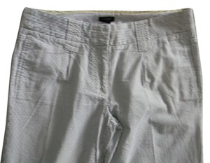 J.Crew Cityfit Size 6 Baggy Pants searsucker blue white
