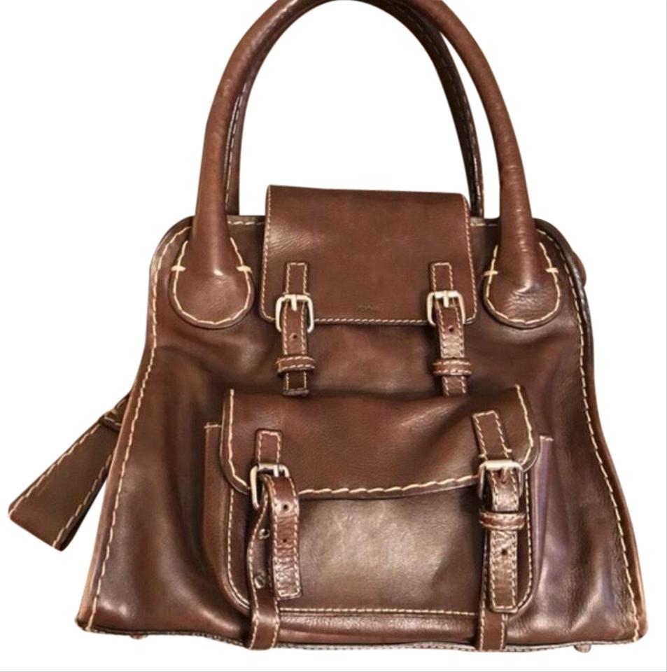 a43aca634c7d Chloé Edith Conteen Brown Leather Satchel - Tradesy