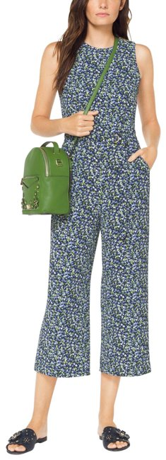 Item - Jessa Small Floral Embellished True Green Leather Backpack