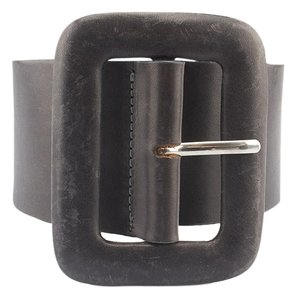 Streets Ahead Streets Ahead Grey Leather Belt, Size S (3716)