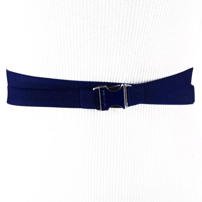 Item - Navy Blue XS Side Release Buckle Double Wrap Elastic Size Extra Small Waist Belt