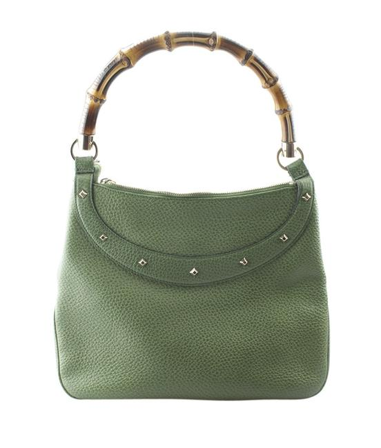 Item - Solid (152179) Green Leather Hobo Bag