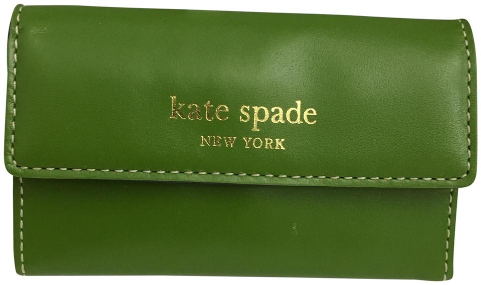 kate spade card holder green  Kate Spade Green Jane Street Holly Business Card/Credit Card Holder Wallet  7% off retail