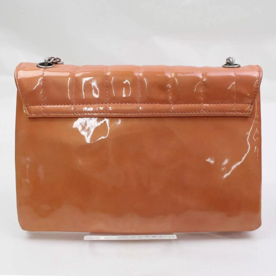 1023bf4764c7 Chanel Classic Flap Pink Peach Patent Leather Shoulder Bag - Tradesy