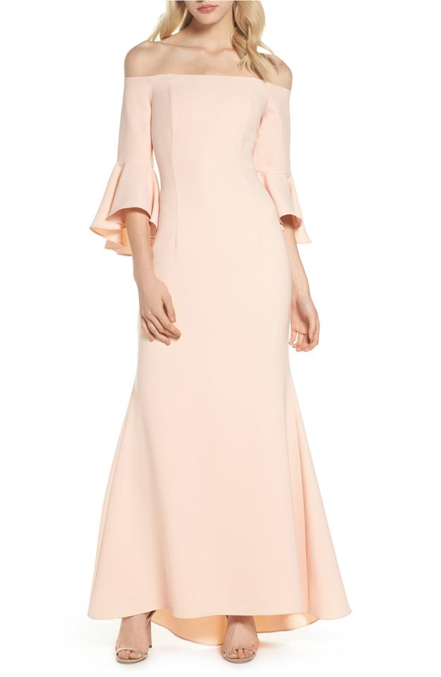 Vince Camuto Blush (Pink) Off The Shoulder Bell Sleeve Gown Long ...