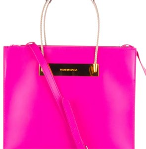 Balenciaga Cable Shopper Pink Soft Leather Tote in Magenta