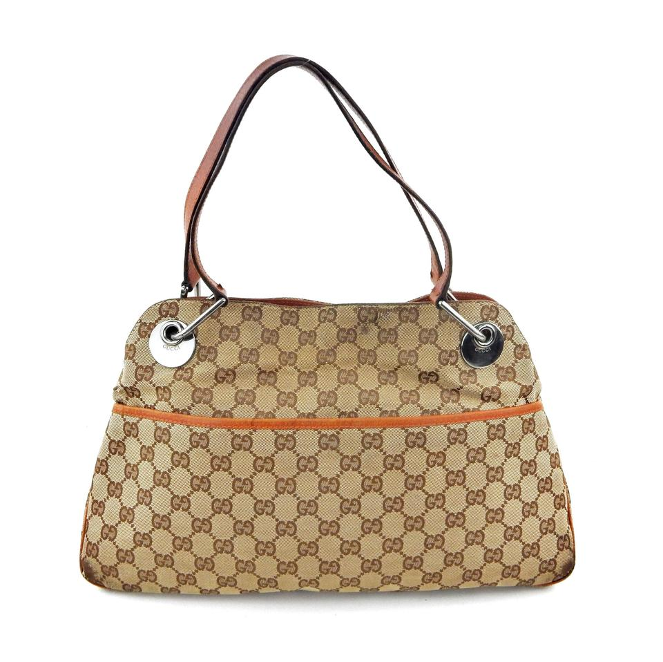 d4a6043a2e74 Gucci Brown Monogram Leather Shoulder Bag | Stanford Center for ...