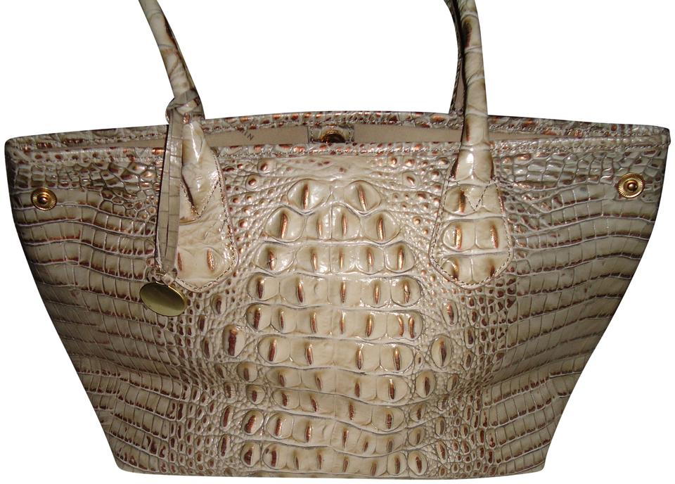 Like Brahmin Tones Bag Leather Beige Reptile Shoulder Handbag Uw1wgx5q