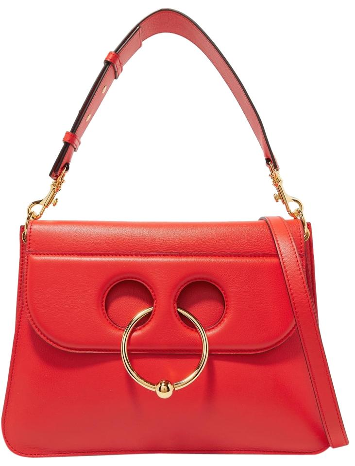 21796e15d J.W.Anderson W New Pierce Medium Red Calfskin Leather Shoulder Bag ...