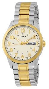 Timex Timex Male Elevated Classics Watch T2M935 Two Tone Analog