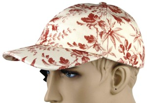 Gucci Beige/Red Canvas Baseball Cap with Floral Print L 408793 6461